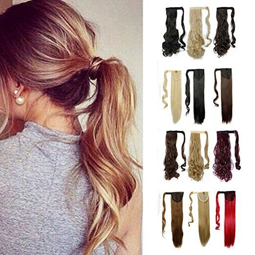 Wrap Around Synthetic Ponytail Clip in Hair Extensions One Piece Magic Paste Pony Tail Long Curly Wavy Soft Silky for Women Fashion and Beauty 17'' / 17  http://amzn.to/2wIJQmX   #hairandnailfashion #hairsale #hairdye #hairbun #hairlife #hairpost #hairbyme #hairproduct #hairart #hairproducts #hairarrange #hairextention