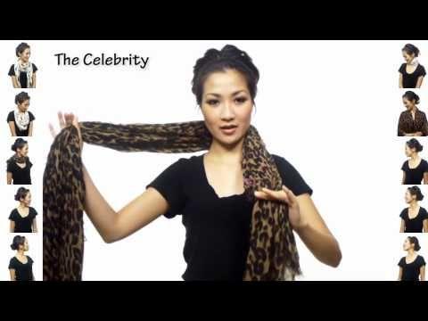 Diy 25 ways to were a scarf ▶ 25 manieren om een sjaal te dragen in 4.5 minuten - YouTube