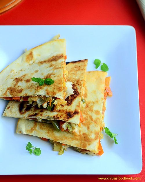 Recently I tasted Mexican Veg Quesadillas at Taco bell. Its my long time wish to prepare Vegetarian quesadilla at home. So I bought to...
