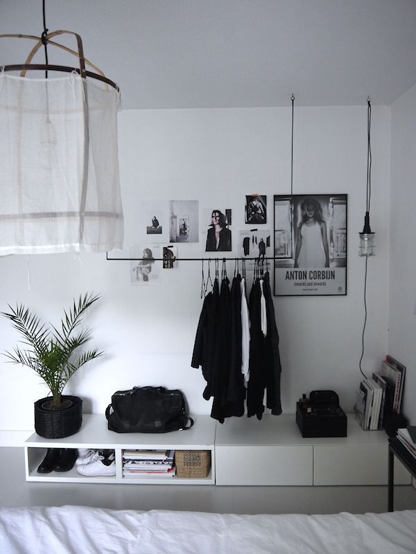 Stylish, modern black and white decor for a teen girl's or a grown woman's room.