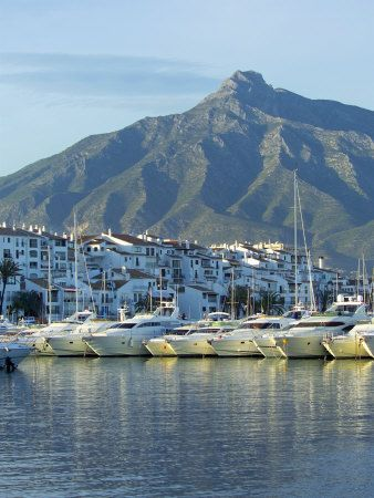 Puerto Banus Marina, Marbella, Malaga Province, Andalucia, Spain Photographic Print