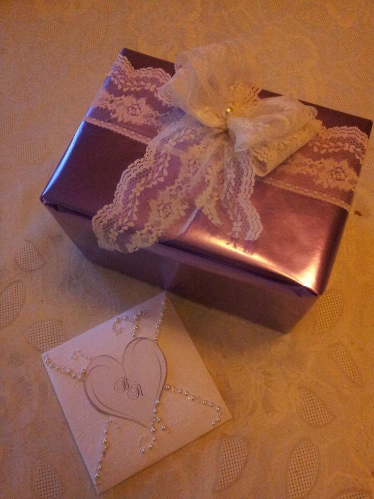 Gitt til et brudepar i sommer, med konvoluttkort
