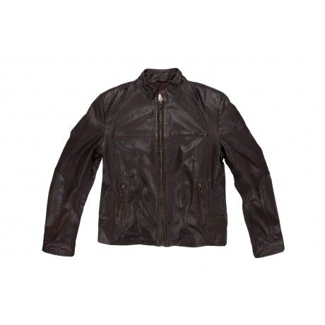 OLD KHAKI MEN'S DYSON LEATHER JACKET: The Old Khaki Dyson is a casual-styled leather jackets with zippered pockets. The Dyson is made...