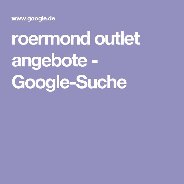 roermond outlet angebote - Google-Suche