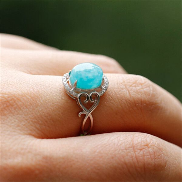 handmade sweetheart promise ring with amazonite 2017