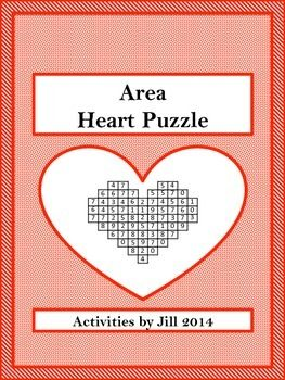 This heart-shaped # search puzzle will make practicing area formulas (square, rectangle, triangle, parallelogram, trapezoid) more fun! It is perfect near Valentine's Day, but can be used any time of the year.  Includes: -One color and one black-and-white copy of formulas/notes. -One color and one black-and-white copy of worksheet. -Answer key -One color and one black-and-white copy of student outline for showing work.  CCSS 6.G.A CCSS 7.G.A