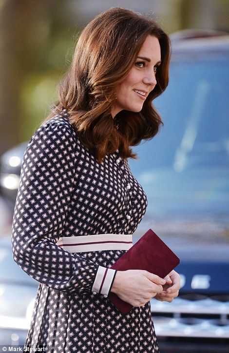 Kate displayed her flawless skin and signature smokey eye as she stepped out at a charity ...