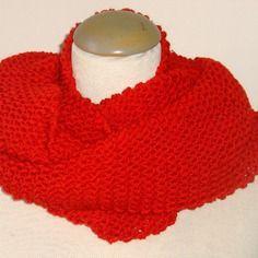 Echarpe snood, très douce, tricotée main, en cachemire et laine…