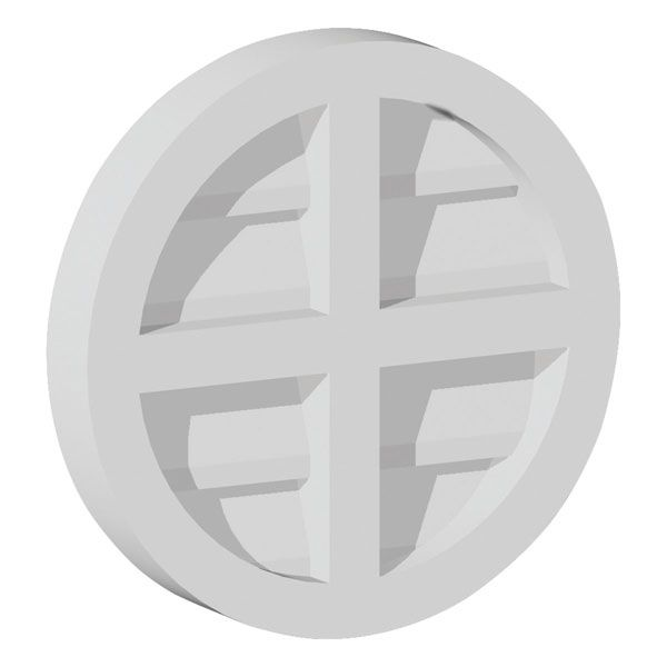 29 7 8 w x 29 7 8 h cross round louver functional for Buy fypon