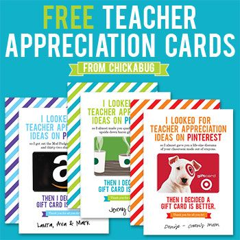 The BEST and FUNNIEST teacher appreciation cards ever : ) Turn a simple gift card into a memorable present!