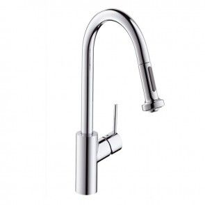 Hansgrohe Talis S2 Variarc Single Lever Kitchen Sink Mixer Tap with Pull-out Spray