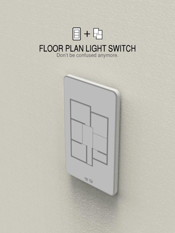 Floor plan light switches by taewon hwang design interruptores de luz disenos de unas y - Floor plan light switch ...