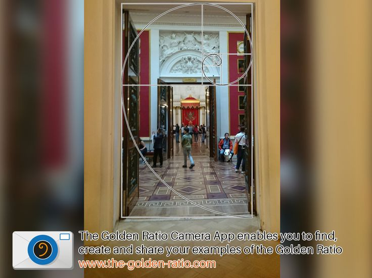 Double Doors at the Hermitage, St Petersburg fit the Golden Ratio