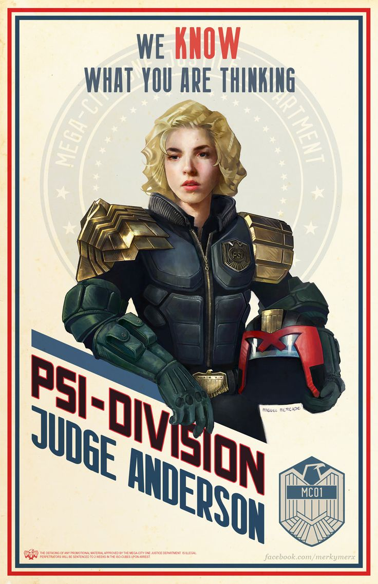 Judge Anderson, Miguel Mercado on ArtStation at https://www.artstation.com/artwork/zDbXQ