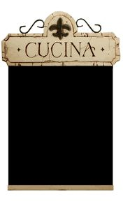 Italian Cucina Chalkboard for Kitchen or Restaurant Decor