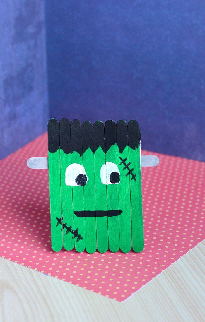 Craft Stick Frankenstein Craft
