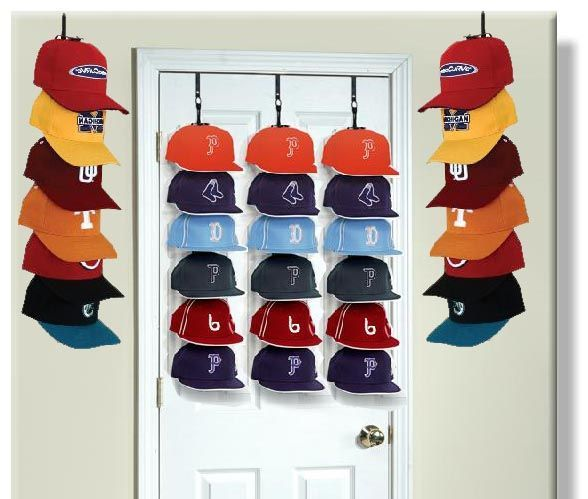 wall hat rack baseball caps cap door storage racks mounted for
