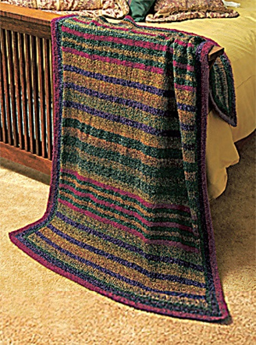 Knit Afghan Patterns In Strips : Ravelry: Prairie Stripes Knit Throw pattern by Lion Brand ...