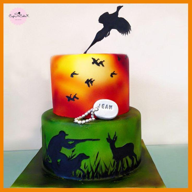 Gâteau d'anniversaire pour un chasseur                                                                                                                                                     Plus