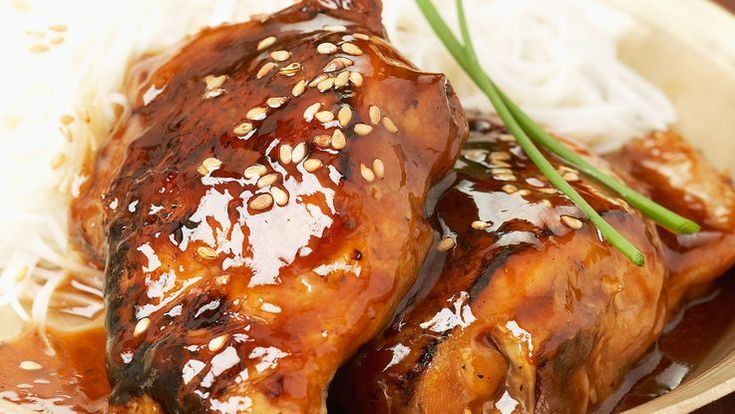 Blancs de poulet sauce miel et balsamique