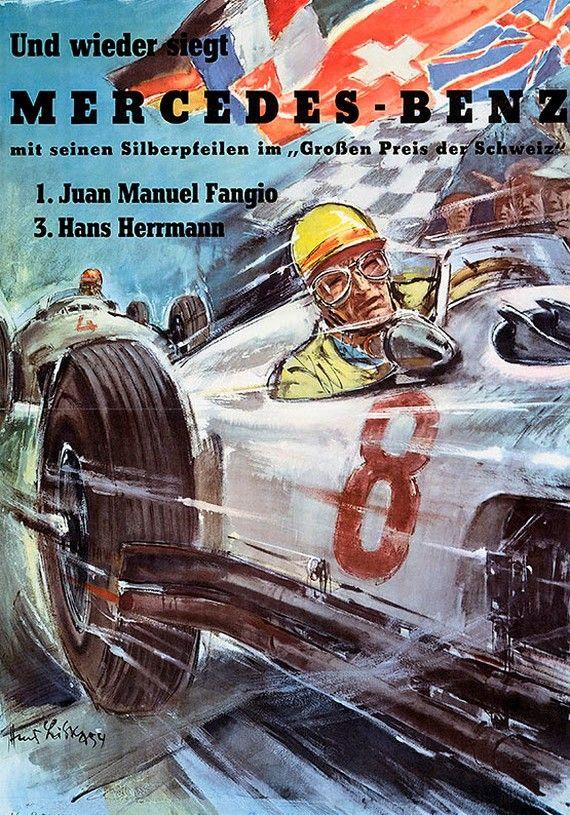 Mercedes-Benz Racing Posters 1908-1955