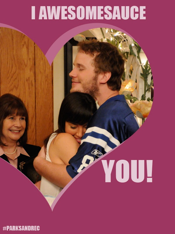 April and Andy / Valentine's Day / #ParksandRec