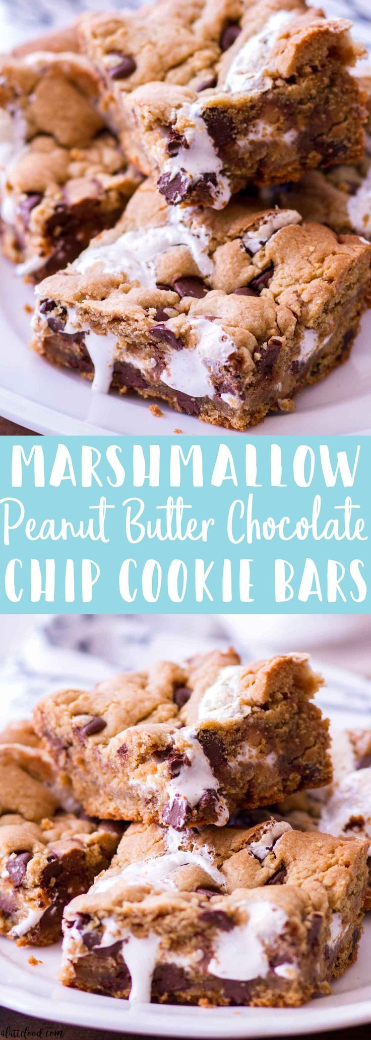 Marshmallow Peanut Butter Chocolate Chip Cookie Bars