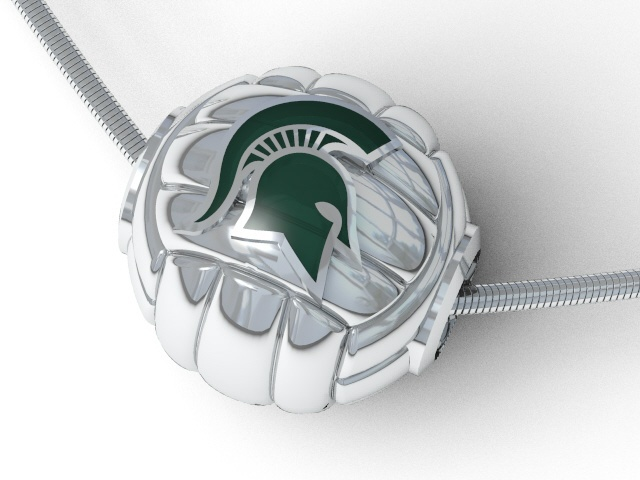New MSU collection! Volleyball pendant