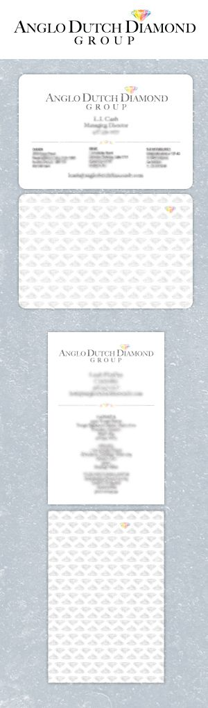 Anglo Dutch Diamond Group Logo and Business card design by Fusion Studios Inc.