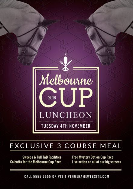 Melbourne Cup Template - Customizable Graphic Templates from Easil