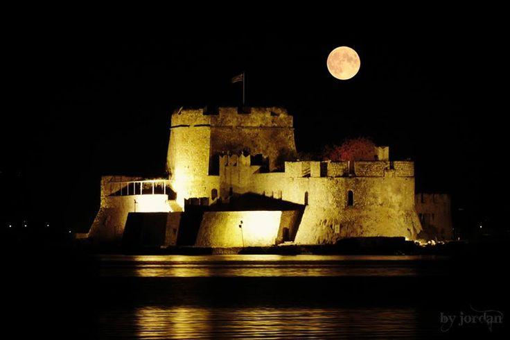 #bourtzi #castle #nauplio #greece #moon #fullmoon