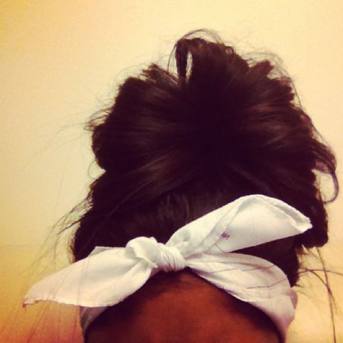 : Hairstyles, Hair Styles, Makeup, Messy Buns, Bow, Beauty