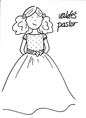 Valdés & Pastor Diseño y Costura: Dibujos para colorear tu Primera Comunión