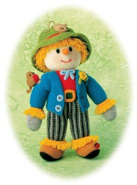 Great knitting patterns to make dolls and other stuffed toys.