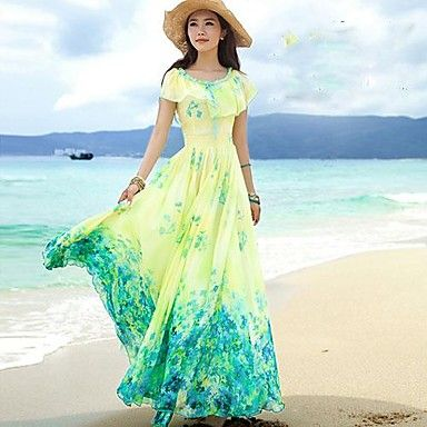 Women's Bohemian Dress Vacation Beach Dress – USD $ 49.99