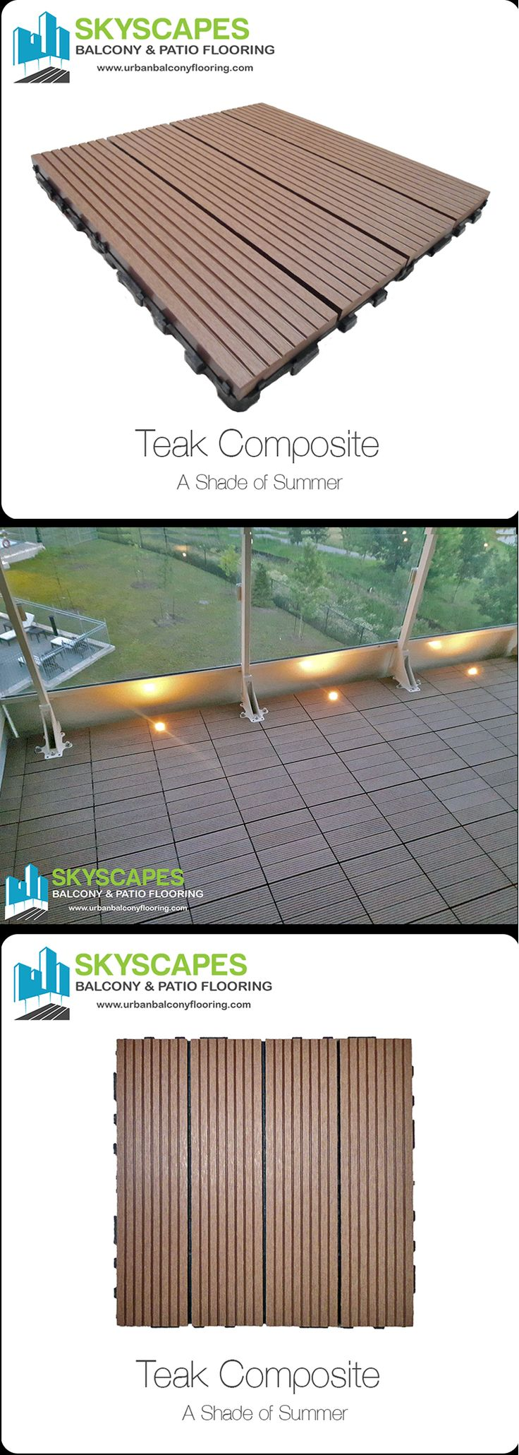 78 best balcony flooring balconies give us freedom images on condo balcony and terrace flooring tile ideas teak composite wpc outdoor floor tile by skyscapes dailygadgetfo Images