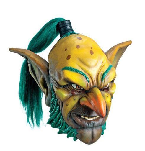 Máscara de látex Goblin. World of Warcraft  Completa tu disfraz con esta estupenda máscara de látex del personaje Goblin del videojuego Warcraft.