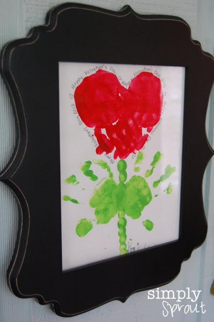 10 nouveaux bricolages pour enfants peindre avec pieds et mains pour la saint valentin. Black Bedroom Furniture Sets. Home Design Ideas