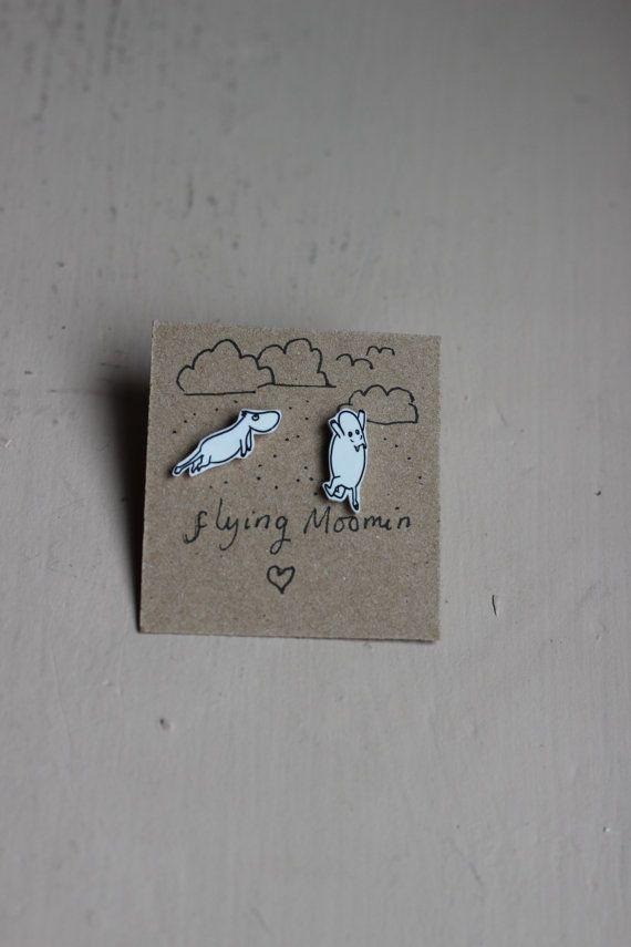 The Moomins 'Moomin can fly' earrings