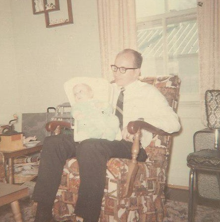 1965 at my Mother's home. Holding baby Celeste.