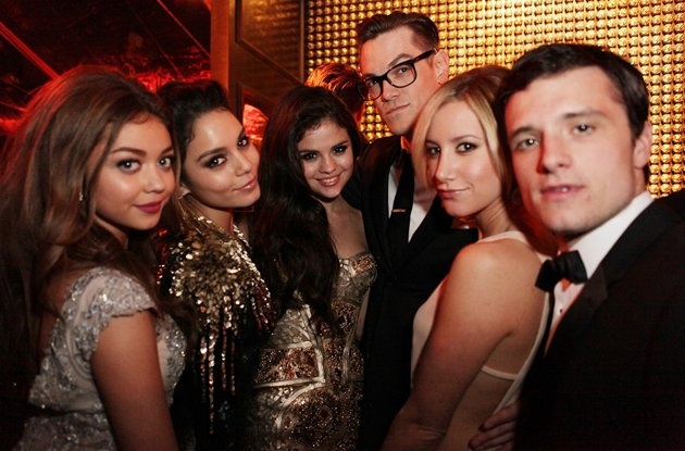 Sarah Hyland, Vanessa Hudson, Selena Gomez, Ashley Tisdale and Josh Hutcherson attends the The Weinstein Company's 2013 Golden Globe Awards after party presented by Chopard, HP, Laura Mercier, Lexus, Marie Claire, and Yucaipa Films held at The Old Trader Vic's at The Beverly Hilton Hotel on January 13, 2013 in Beverly Hills, California