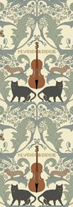 Hey Diddle Diddle by: Trustworth Studios, a British design studio, has some of the most beautiful original wallpaper designs.