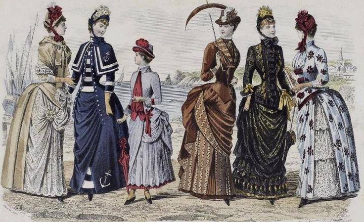 1880s dresses tournuere kleider zeichnungen