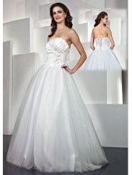 Satin Strapless Sheer Scalloped Neckline Long Prom Dress