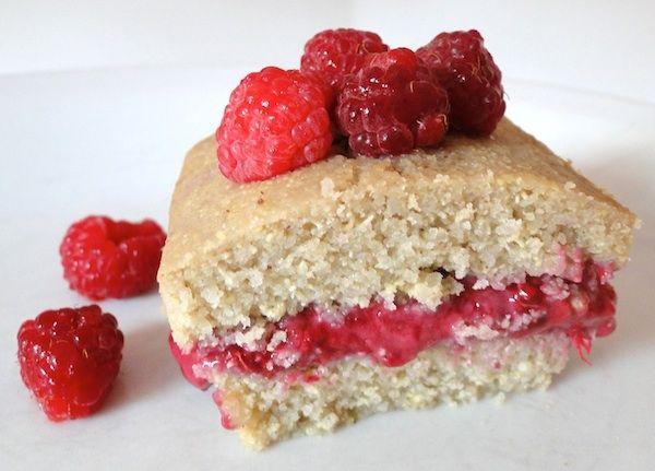 muffin quinoa mixé et framboise - sans gluetn