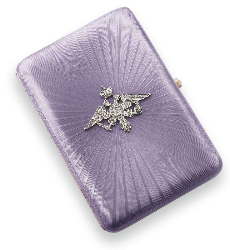 A Fabergé jeweled gilded silver and guilloché enamel Imperial presentation cigarette case, workmaster August Hollming, St. Petersburg, 1908-1917 | Lot | Sotheby's