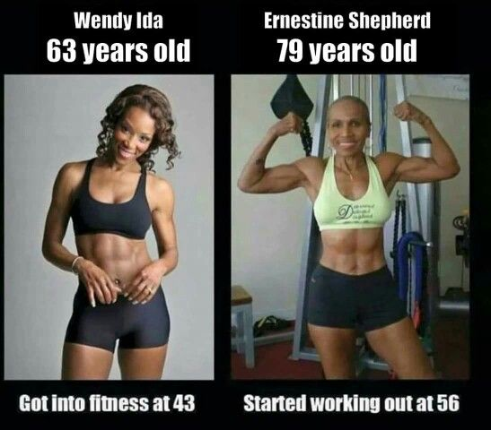 Wendy Ida and Ernestine Shepherd