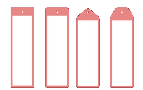 135 Blank Bookmark Templates Bookmark Template