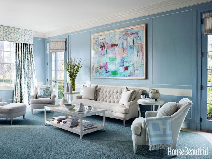 A 1920s House Embraces The Power Of Blue Living Room