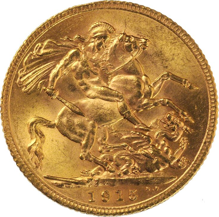 1915 Gold Sovereign : George V St George London Mint